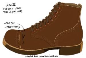 WWII US Service Shoe Type II
