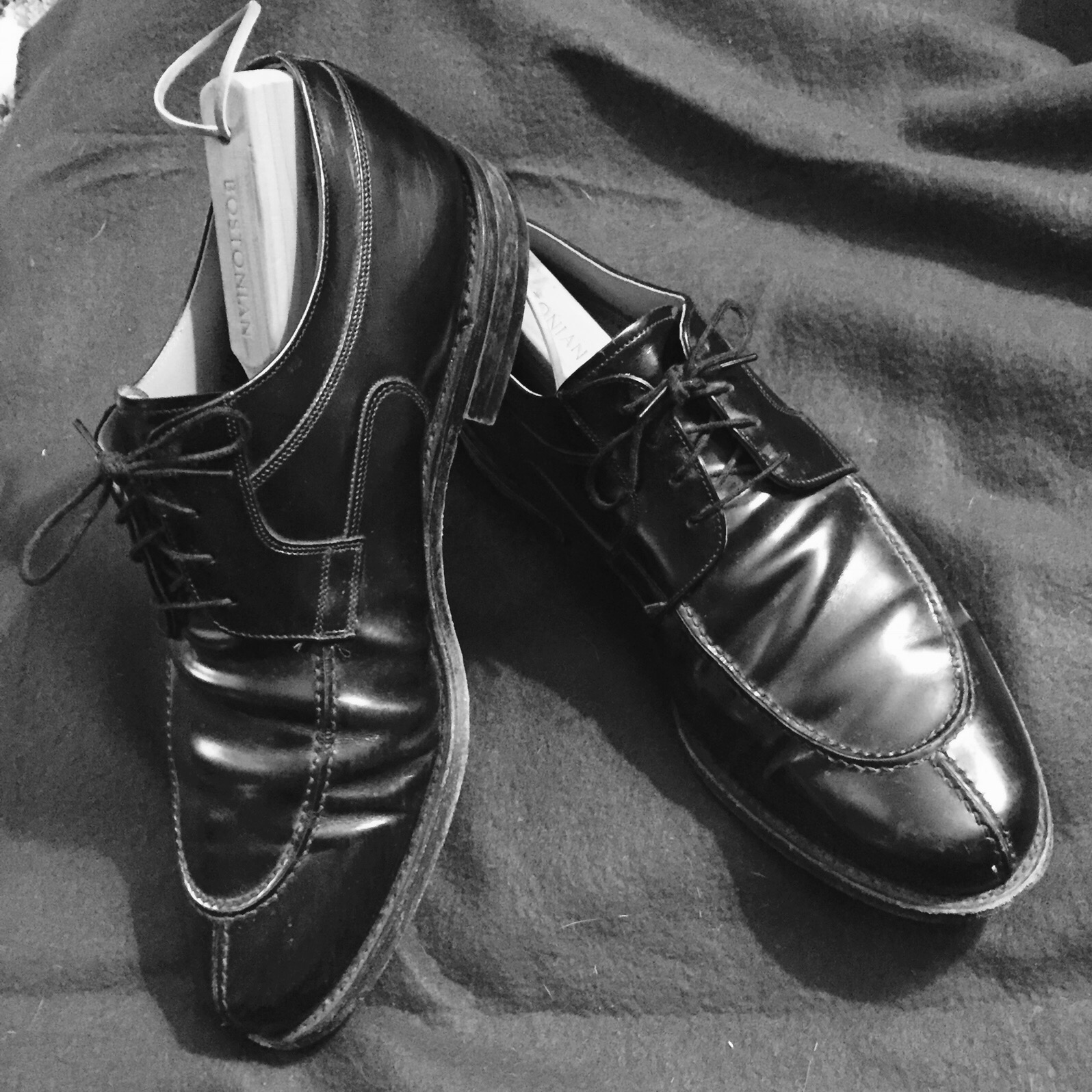 Black Johnston and Murphy Oxfords - Pre-Shine